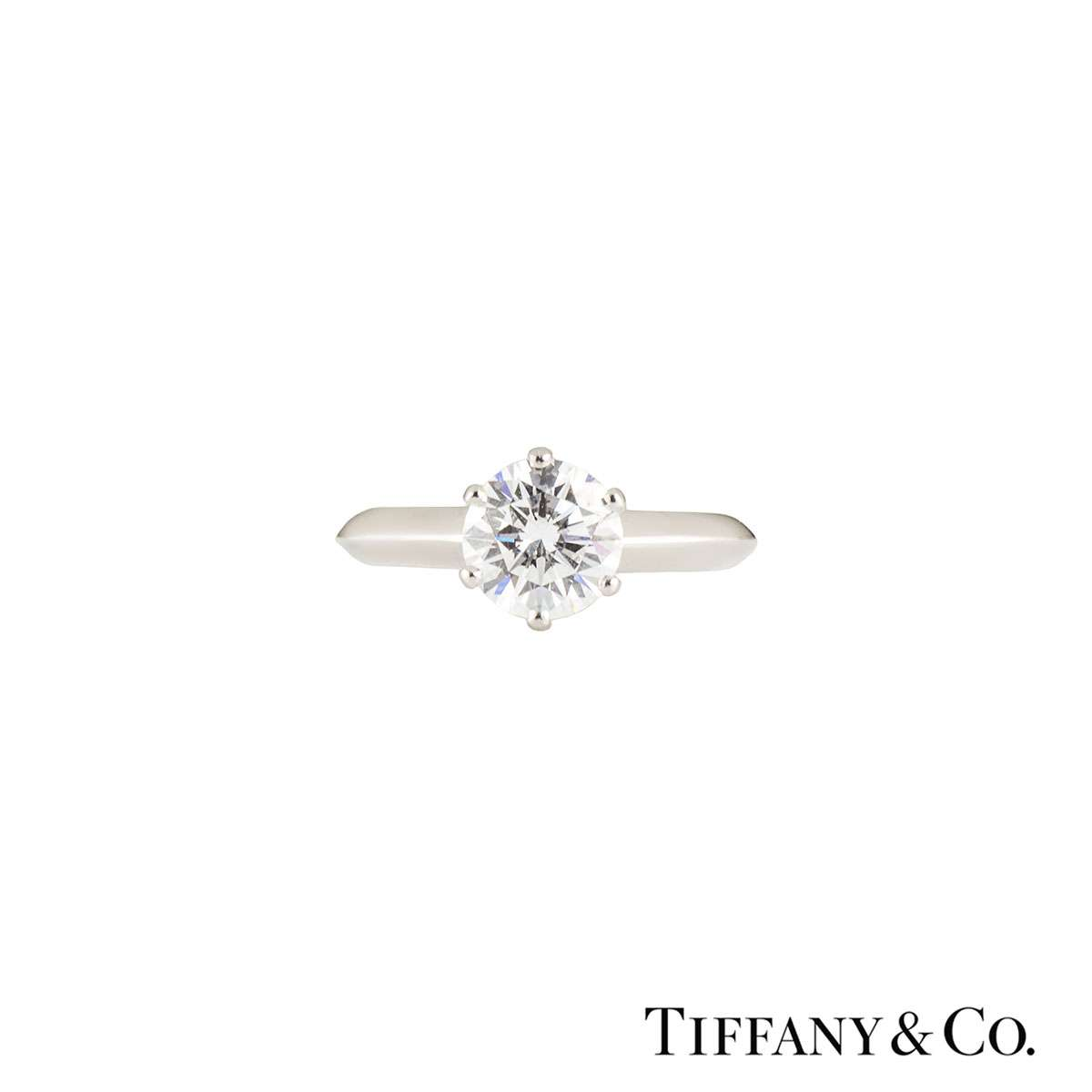 Tiffany & Co. Platinum Diamond Setting Band Ring 1.16ct H/VS1
